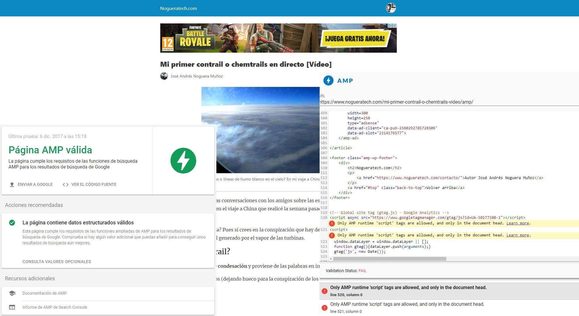 Cómo añadir Google Adsense a tus artículos AMP de WordPress